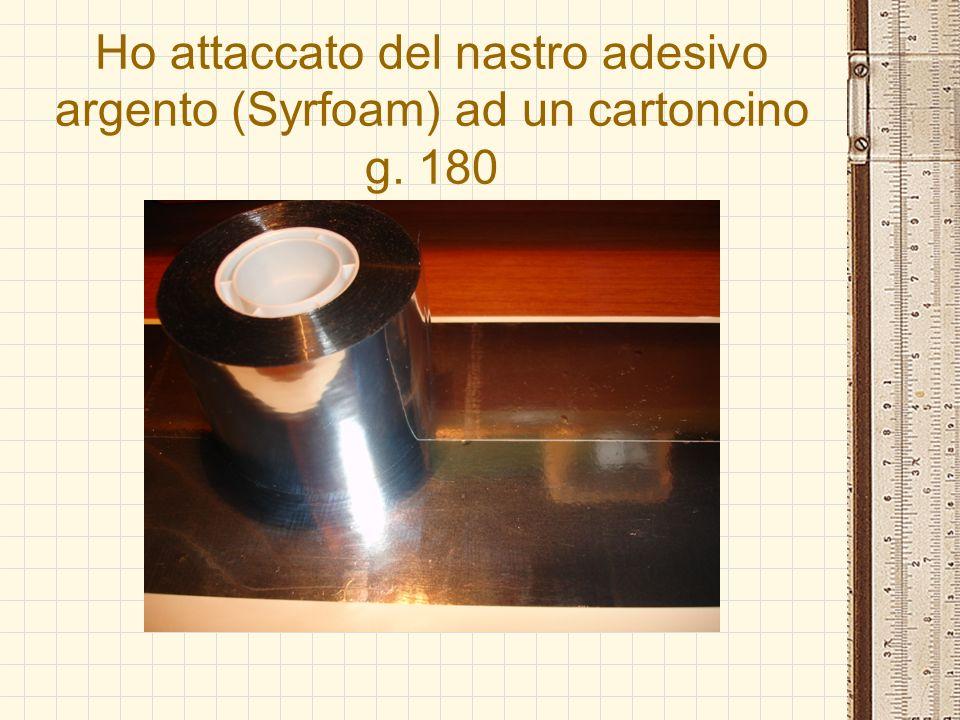 Ho attaccato del nastro adesivo argento (Syrfoam) ad un cartoncino g