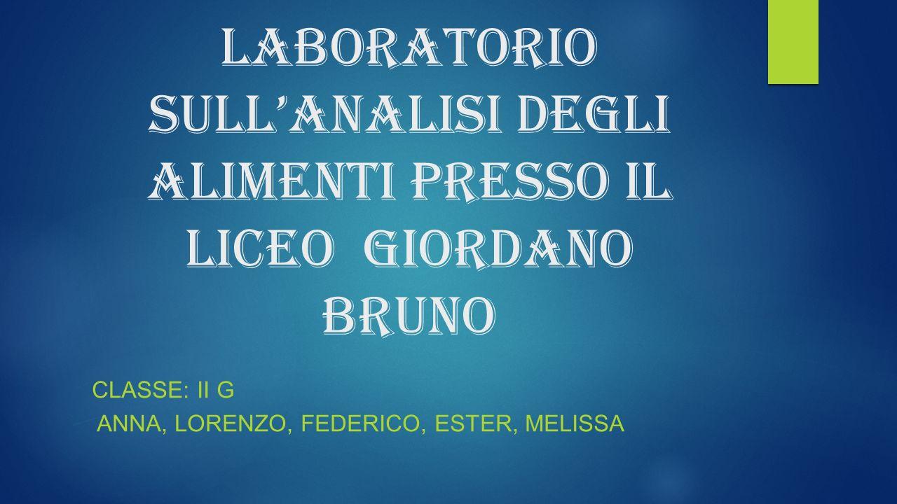 Laboratorio sull'analisi degli alimenti presso il liceo Giordano Bruno