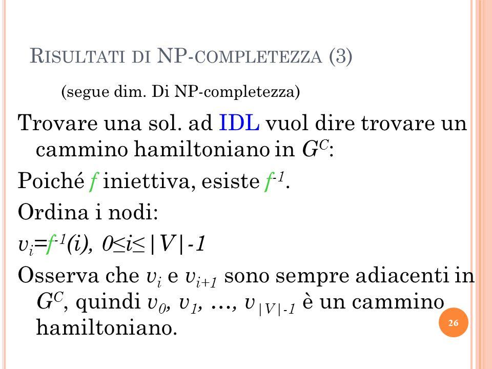 Risultati di NP-completezza (3)