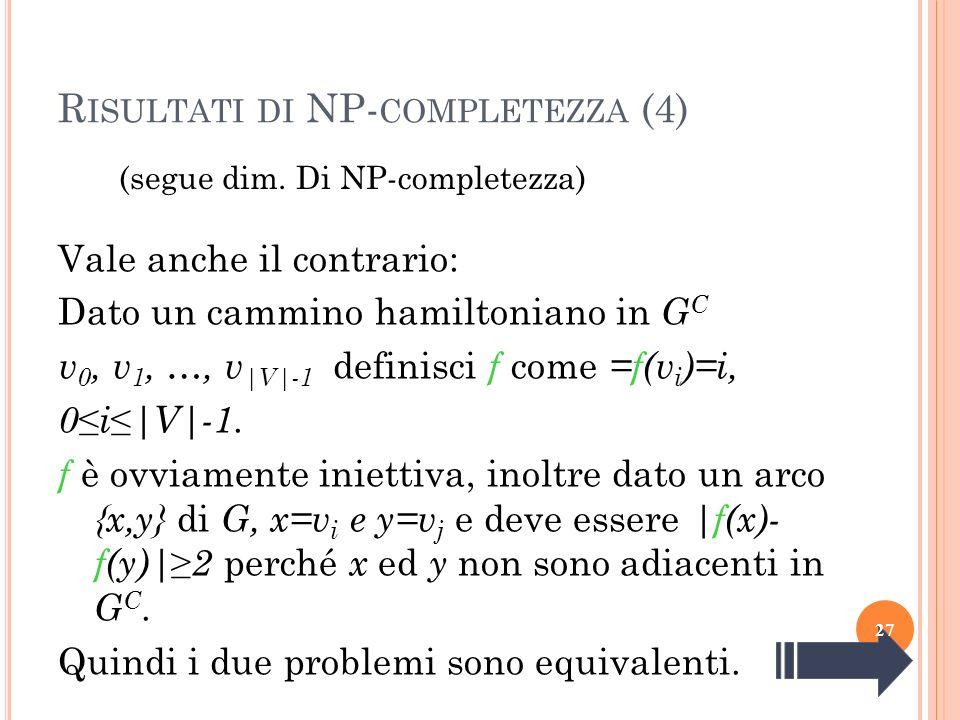 Risultati di NP-completezza (4)