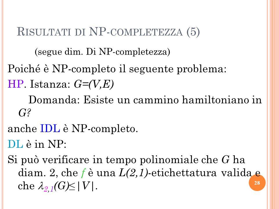 Risultati di NP-completezza (5)