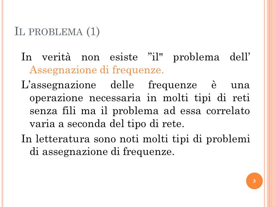 Il problema (1) In verità non esiste il problema dell' Assegnazione di frequenze.