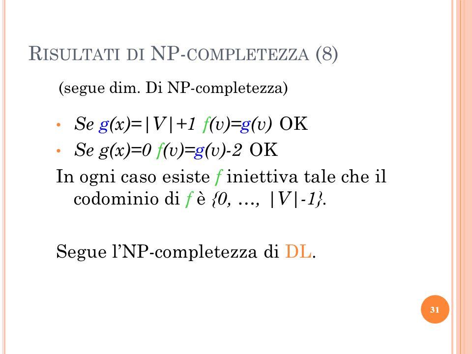 Risultati di NP-completezza (8)