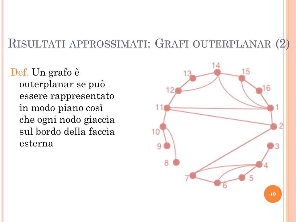 Risultati approssimati: Grafi outerplanar (2)