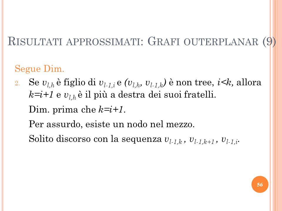 Risultati approssimati: Grafi outerplanar (9)