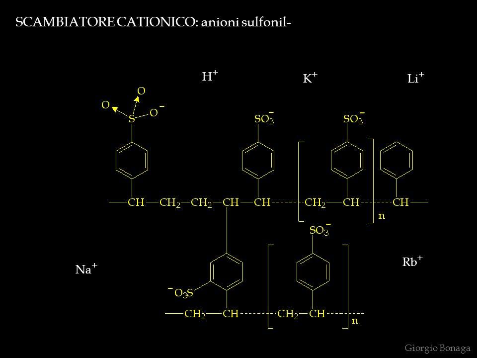 SCAMBIATORE CATIONICO: anioni sulfonil-