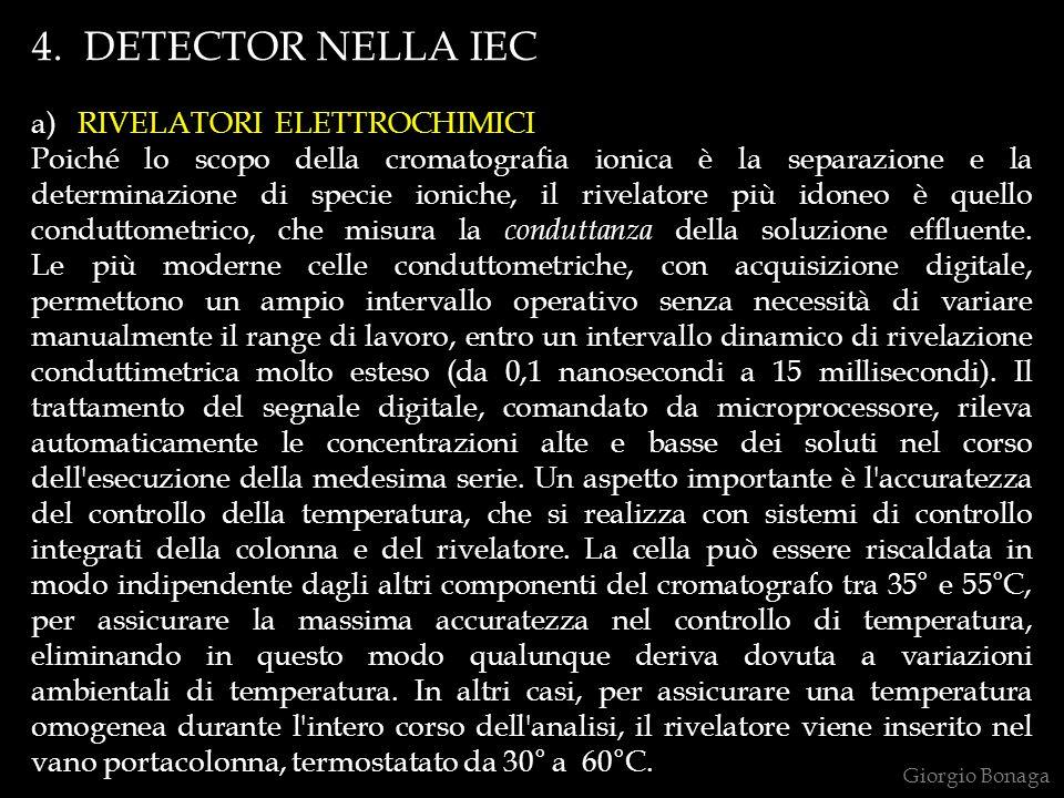 4. DETECTOR NELLA IEC a) RIVELATORI ELETTROCHIMICI