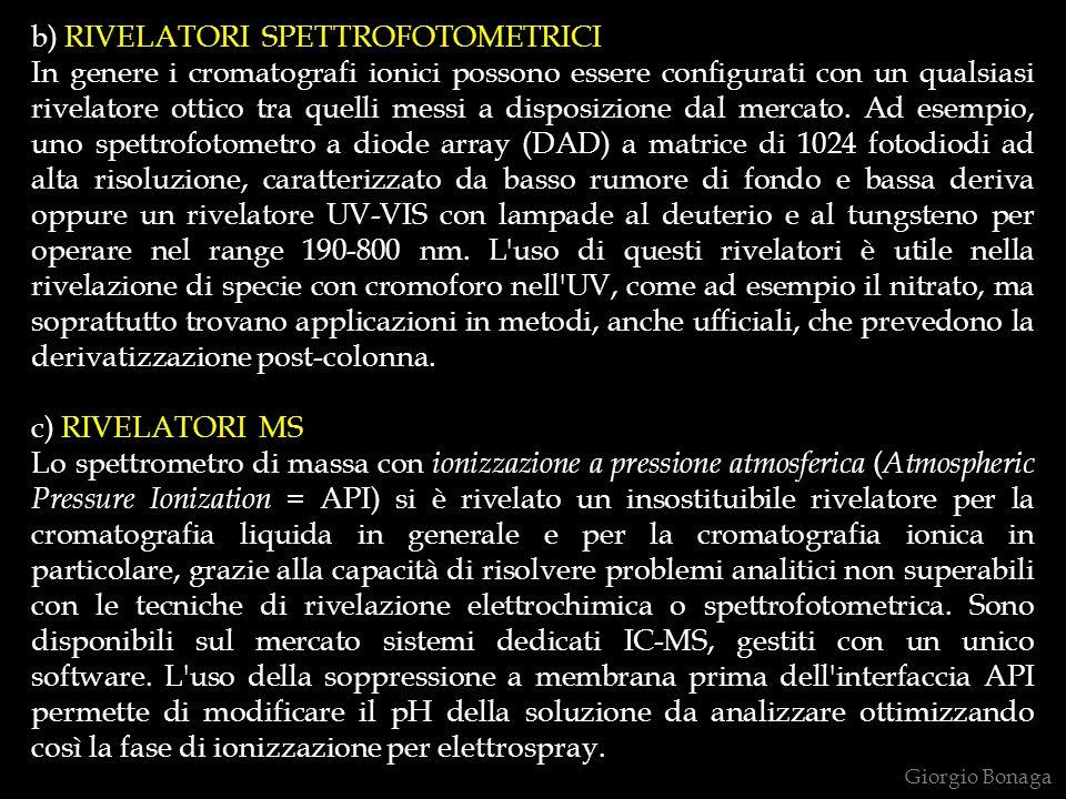 b) RIVELATORI SPETTROFOTOMETRICI