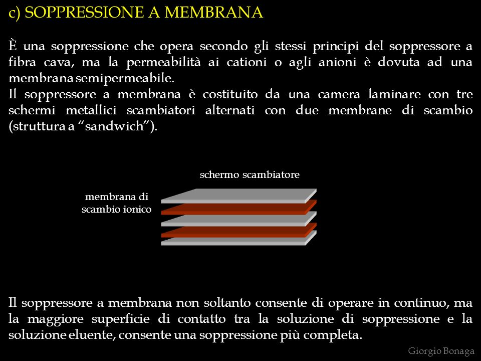 c) SOPPRESSIONE A MEMBRANA