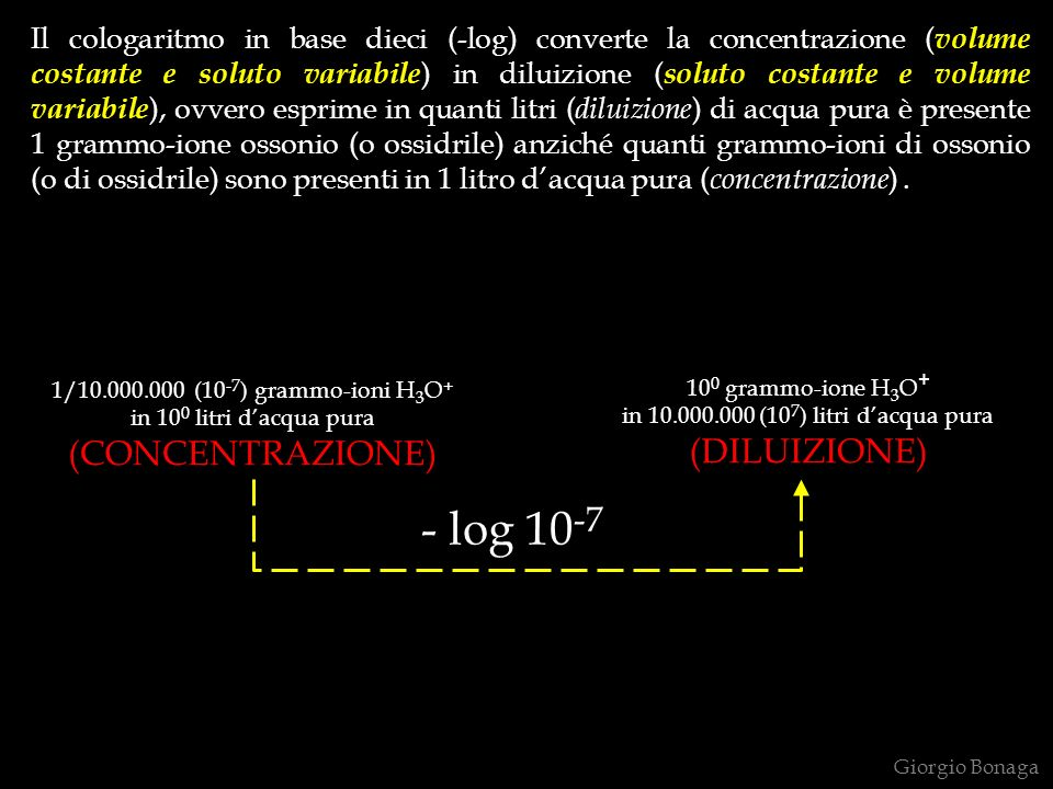 - log 10-7 (CONCENTRAZIONE) (DILUIZIONE)