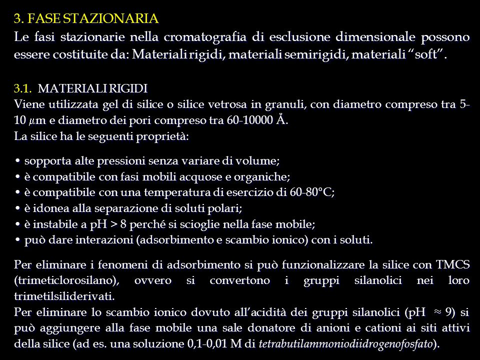 3. FASE STAZIONARIA