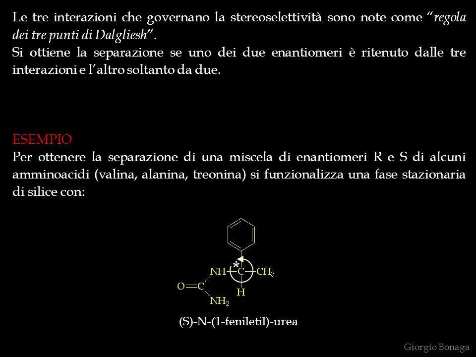 Le tre interazioni che governano la stereoselettività sono note come regola dei tre punti di Dalgliesh .