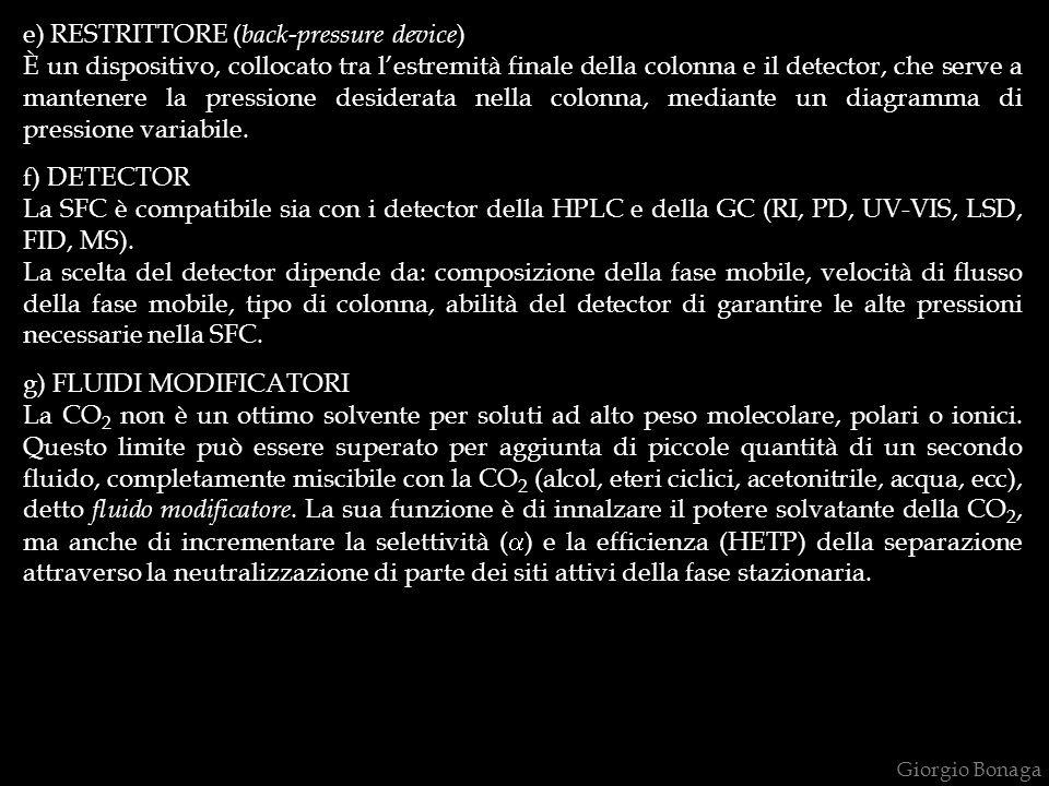 e) RESTRITTORE (back-pressure device)