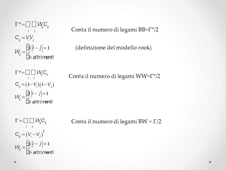 Conta il numero di legami BB=G*/2