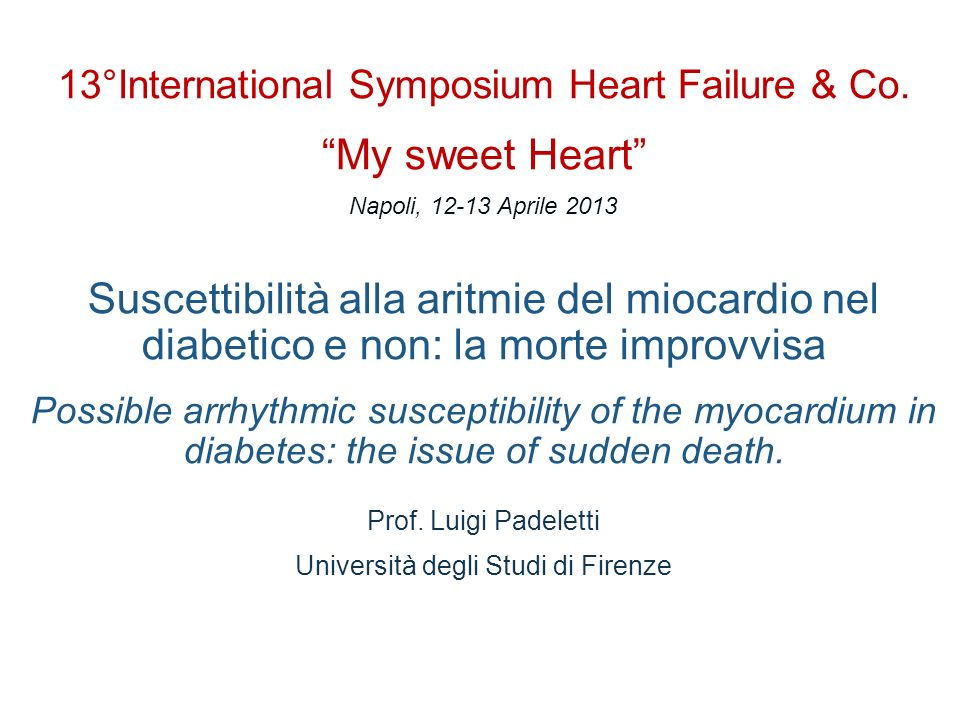 13°International Symposium Heart Failure & Co.