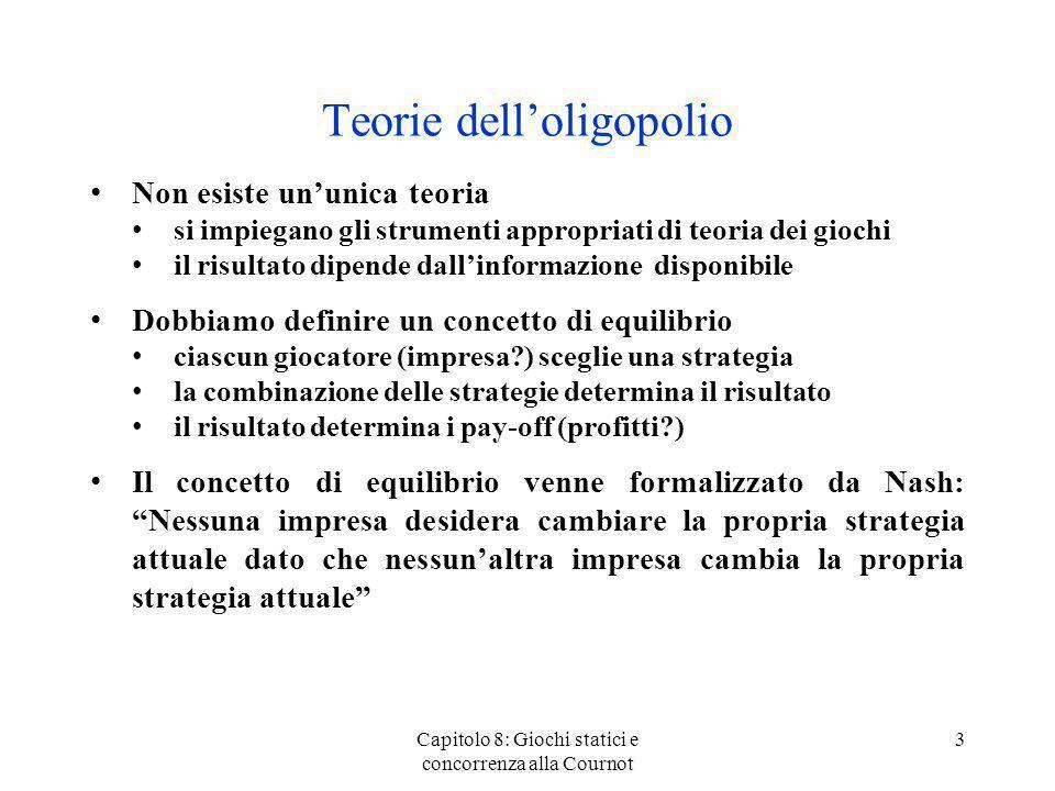 Teorie dell'oligopolio