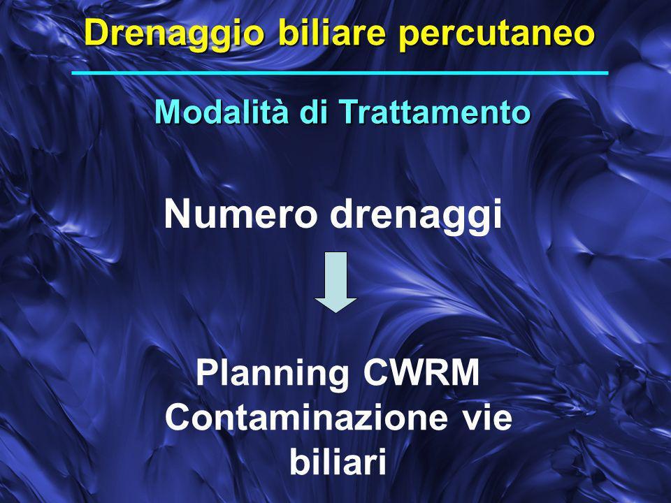 Numero drenaggi Drenaggio biliare percutaneo Planning CWRM