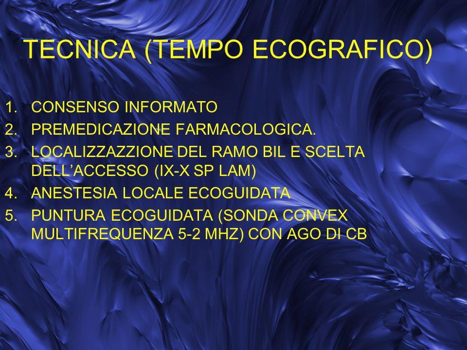 TECNICA (TEMPO ECOGRAFICO)