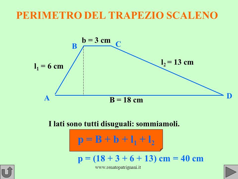 PERIMETRO DEL TRAPEZIO SCALENO