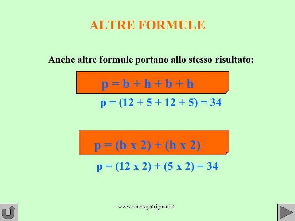 Anche altre formule portano allo stesso risultato: