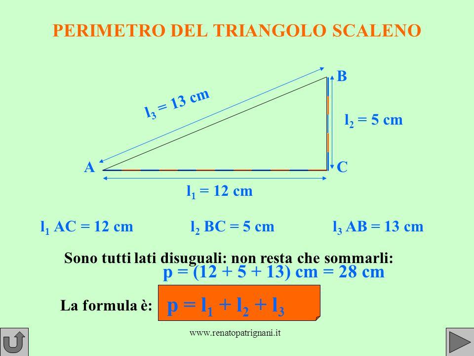 PERIMETRO DEL TRIANGOLO SCALENO