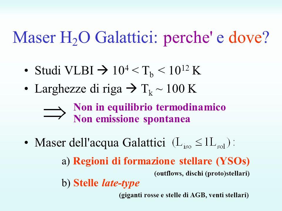 Maser H2O Galattici: perche e dove