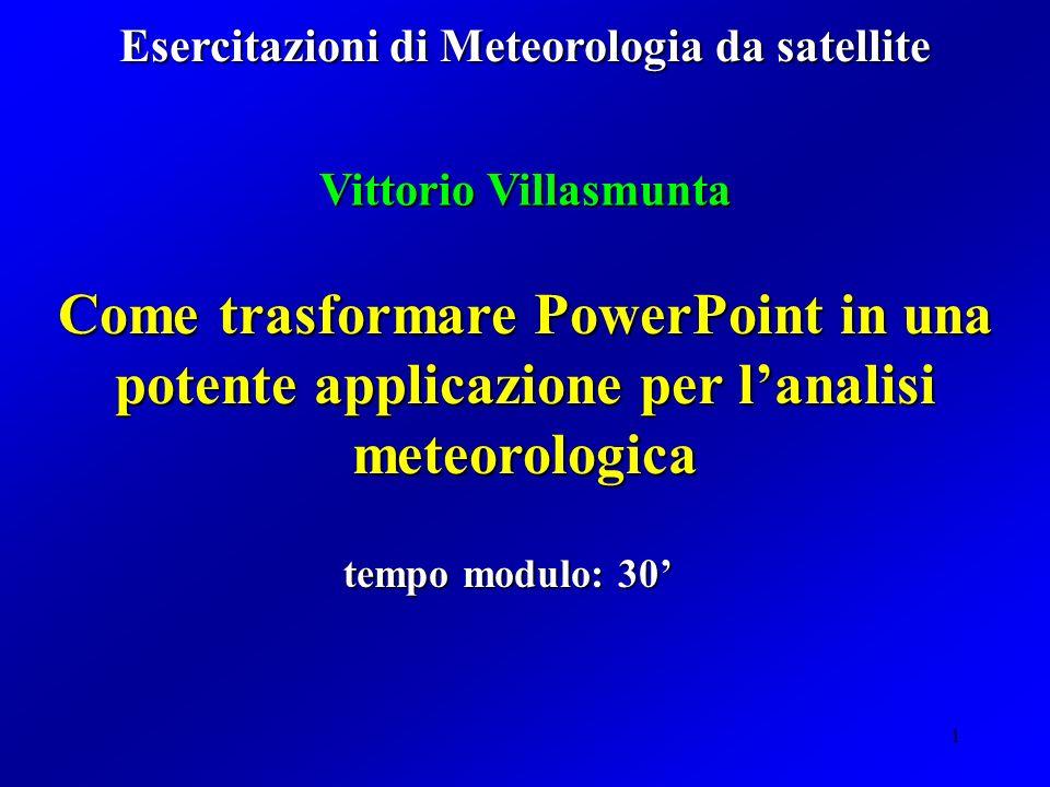 Esercitazioni di Meteorologia da satellite