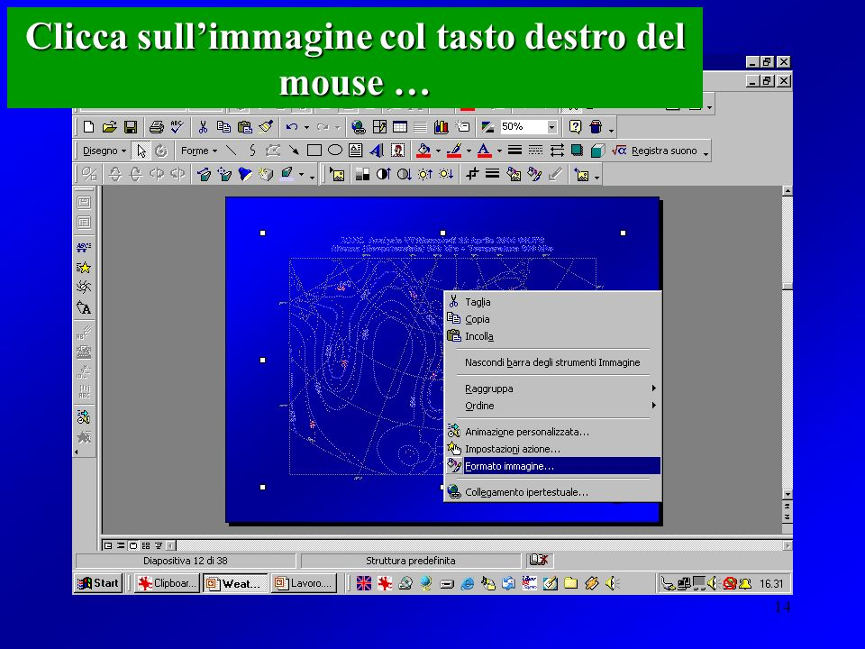 Clicca sull'immagine col tasto destro del mouse …