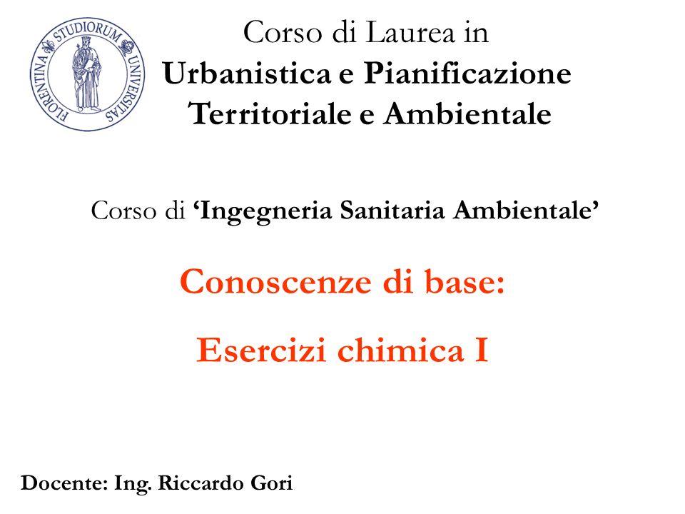 Urbanistica e Pianificazione Territoriale e Ambientale