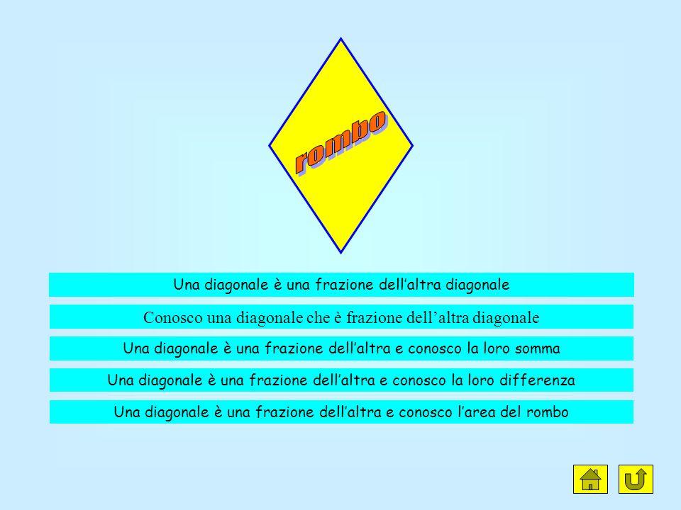 rombo Conosco una diagonale che è frazione dell'altra diagonale