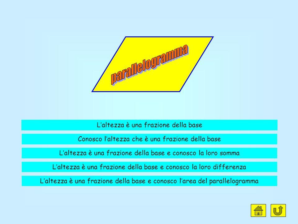 parallelogramma L'altezza è una frazione della base