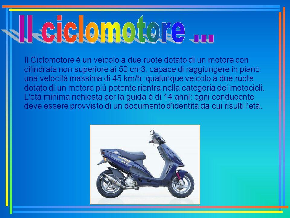 Il ciclomotore ...