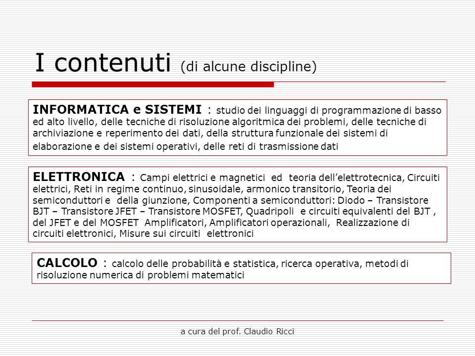 I contenuti (di alcune discipline)
