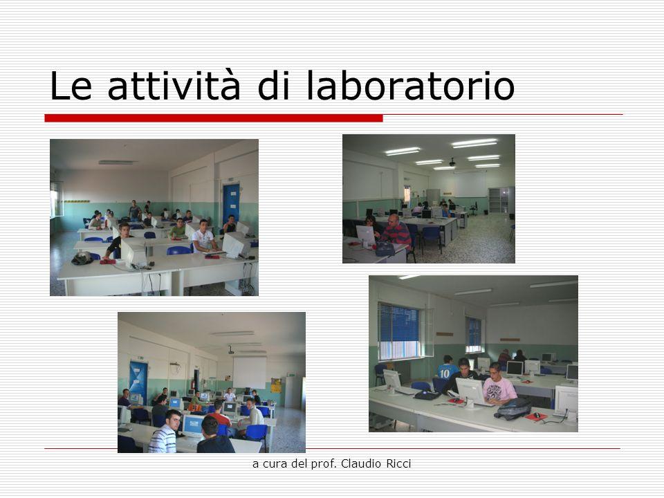 Le attività di laboratorio