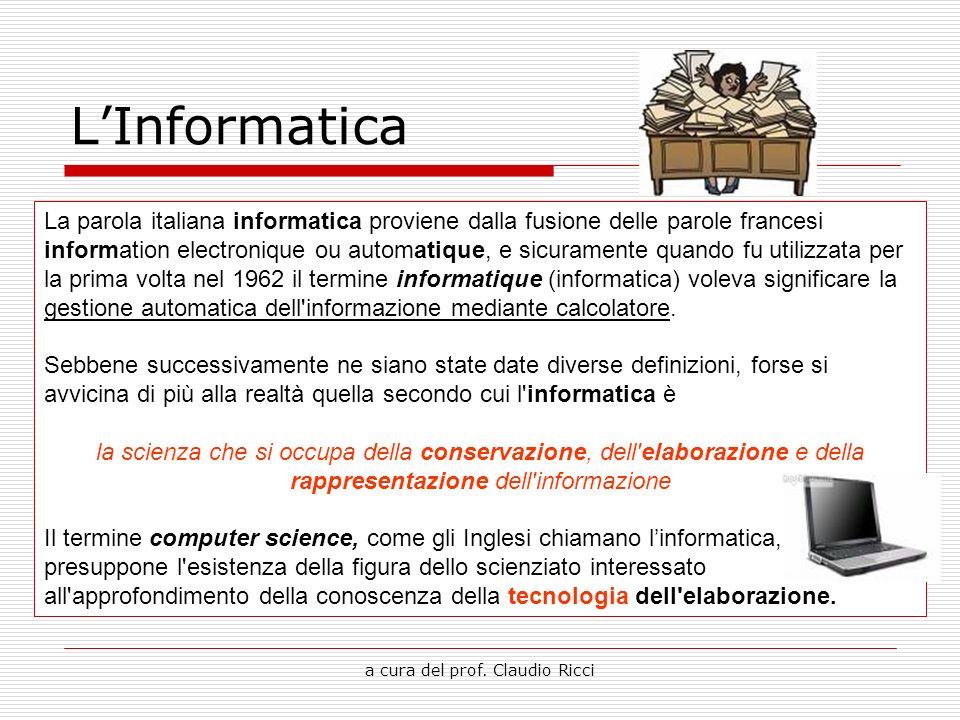 a cura del prof. Claudio Ricci