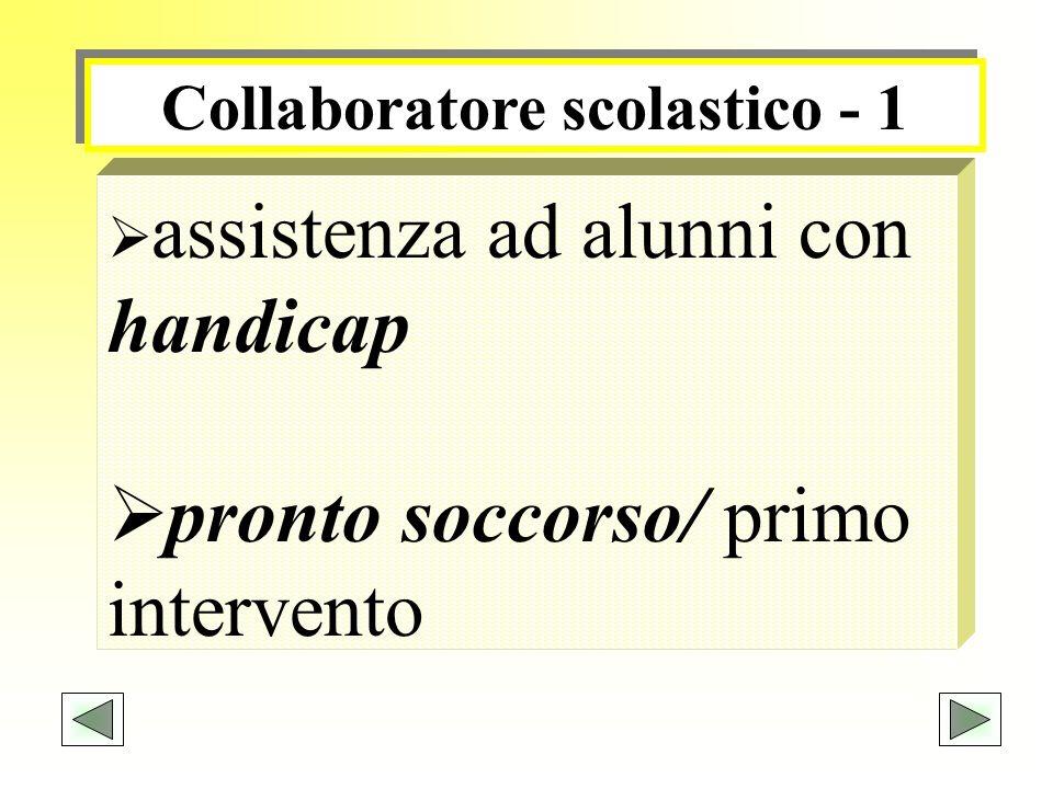 Collaboratore scolastico - 1