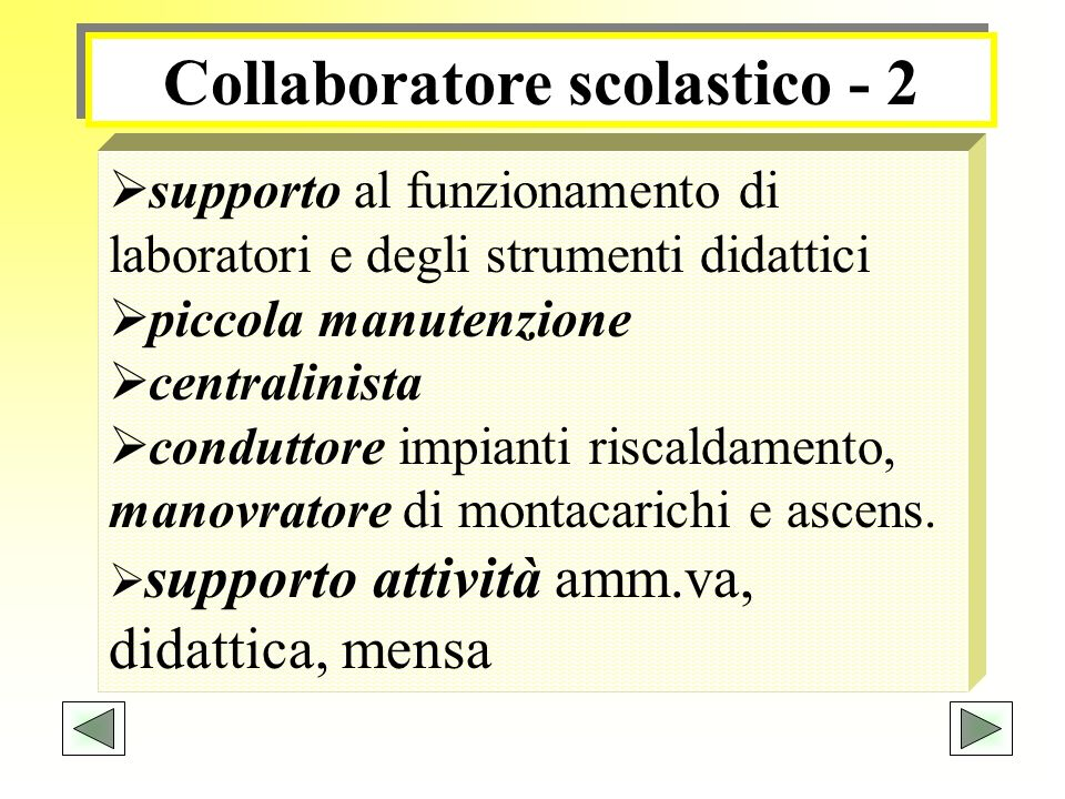 Collaboratore scolastico - 2