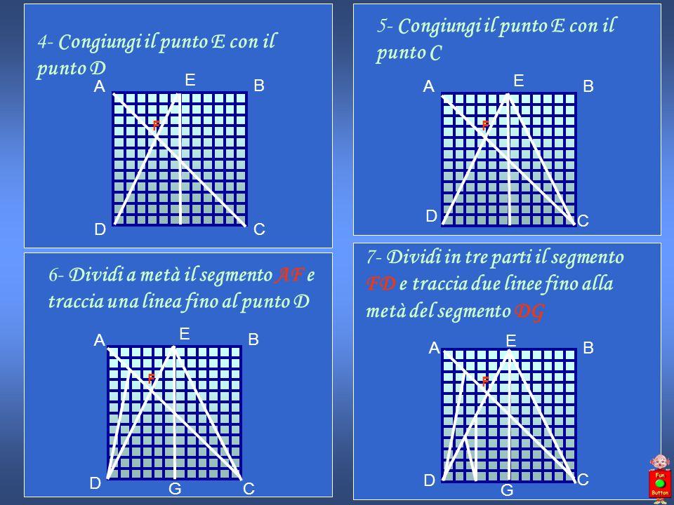 5- Congiungi il punto E con il punto C