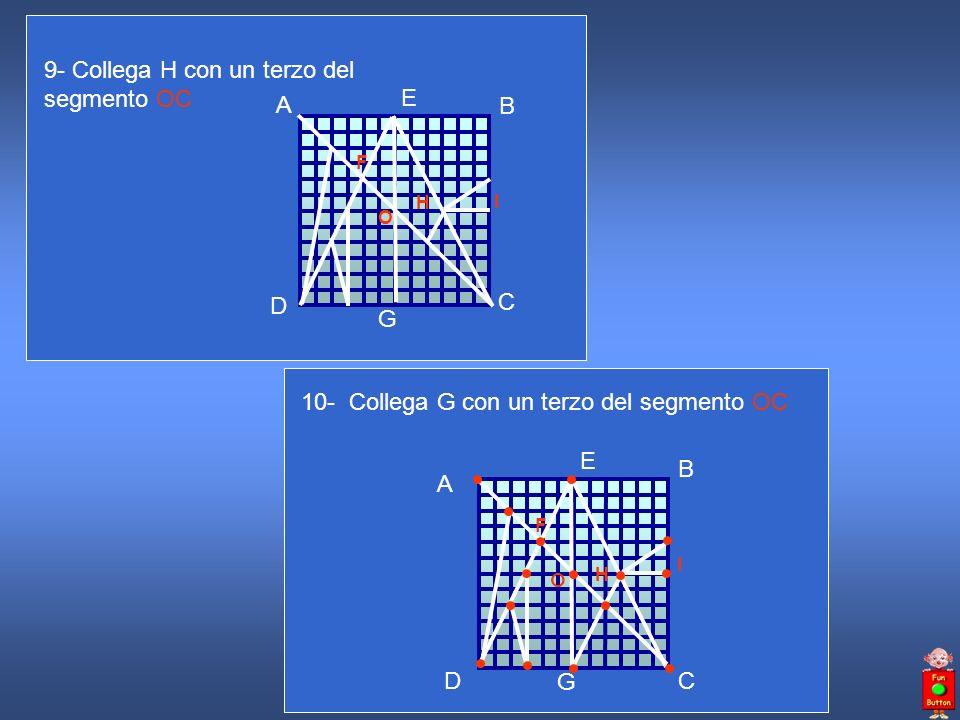 9- Collega H con un terzo del segmento OC A B