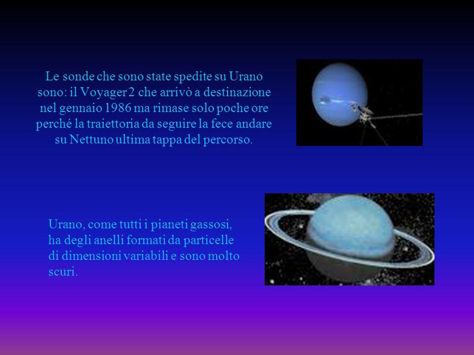 Le sonde che sono state spedite su Urano sono: il Voyager 2 che arrivò a destinazione nel gennaio 1986 ma rimase solo poche ore perché la traiettoria da seguire la fece andare su Nettuno ultima tappa del percorso.