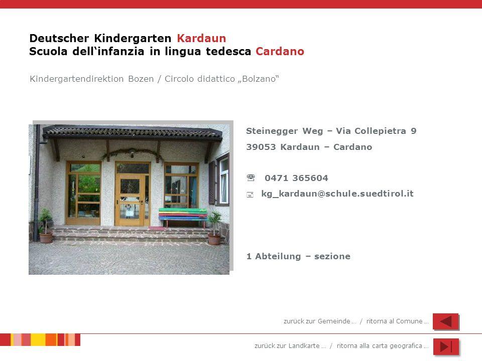 Deutscher Kindergarten Kardaun Scuola dell'infanzia in lingua tedesca Cardano