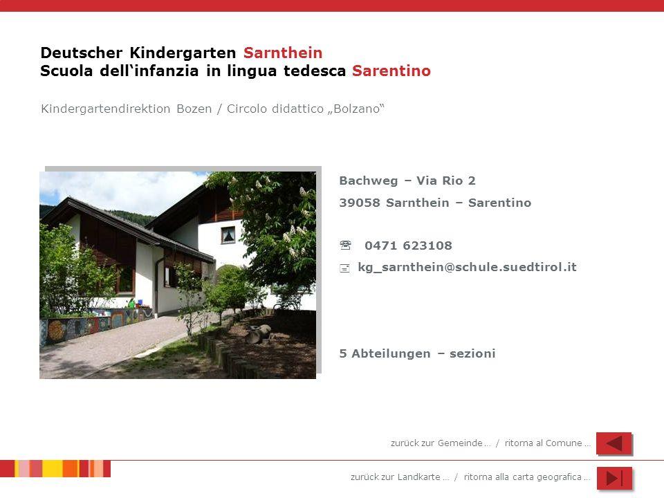 Deutscher Kindergarten Sarnthein Scuola dell'infanzia in lingua tedesca Sarentino