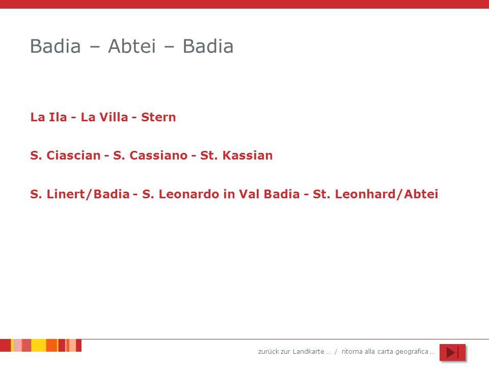 Badia – Abtei – Badia La Ila - La Villa - Stern