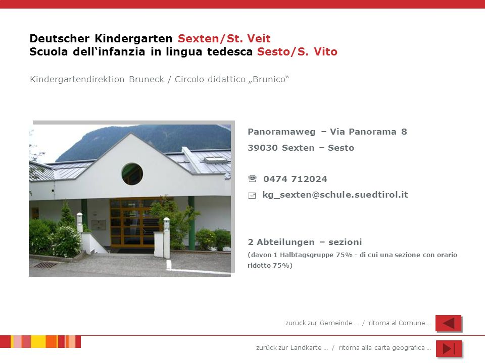 Deutscher Kindergarten Sexten/St