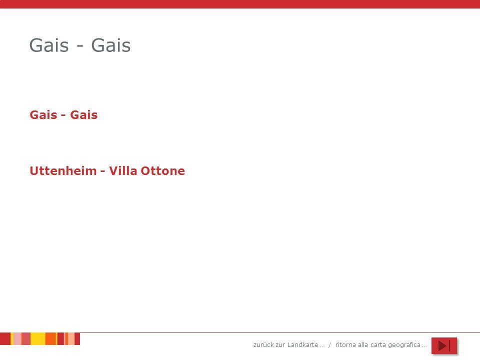 Gais - Gais Gais - Gais Uttenheim - Villa Ottone