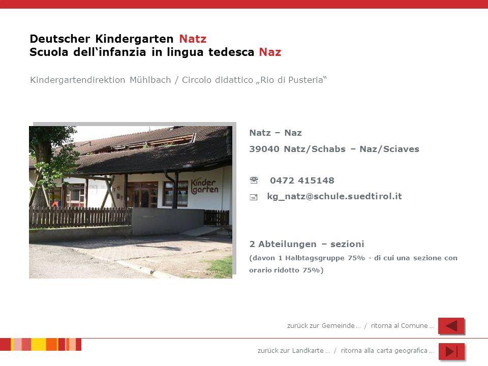 Deutscher Kindergarten Natz Scuola dell'infanzia in lingua tedesca Naz