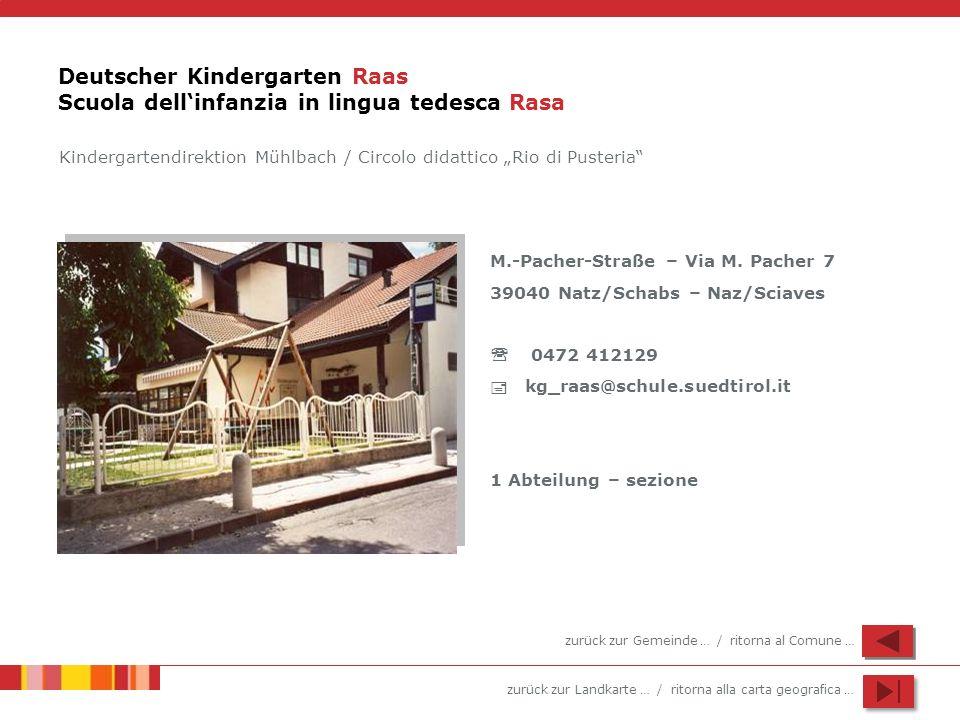 Deutscher Kindergarten Raas Scuola dell'infanzia in lingua tedesca Rasa