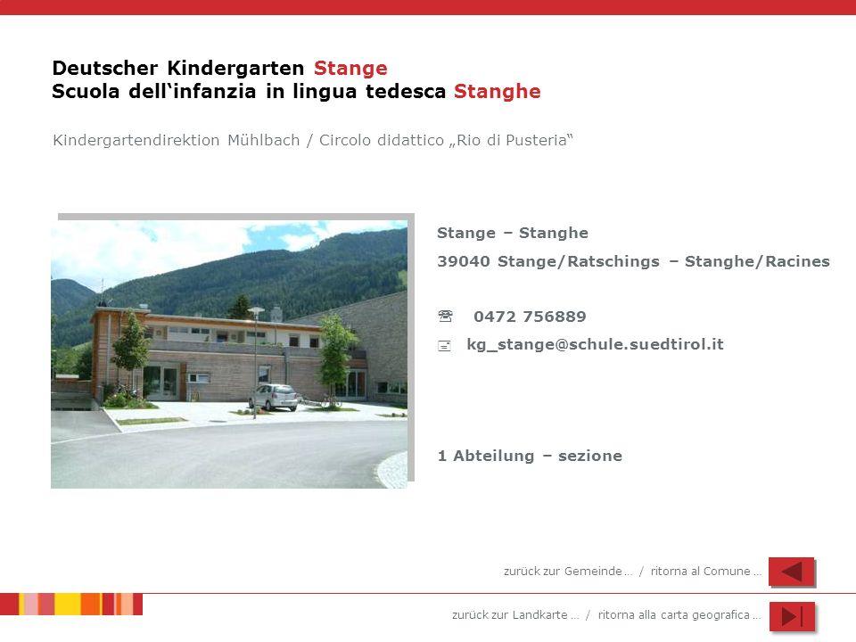 Deutscher Kindergarten Stange Scuola dell'infanzia in lingua tedesca Stanghe