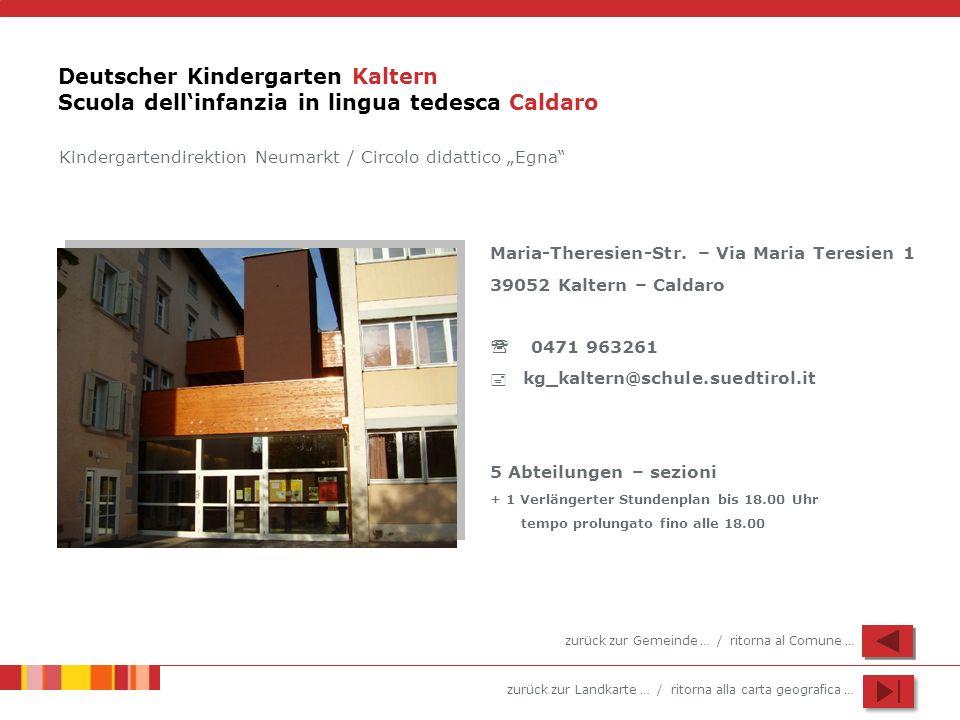 Deutscher Kindergarten Kaltern Scuola dell'infanzia in lingua tedesca Caldaro