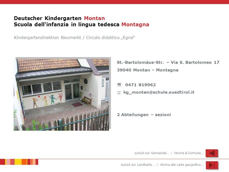 Deutscher Kindergarten Montan Scuola dell'infanzia in lingua tedesca Montagna